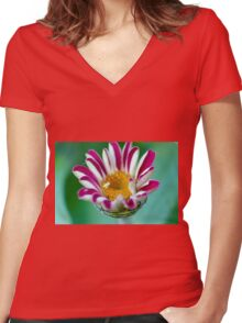 Striped Beauty 1 Women's Fitted V-Neck T-Shirt
