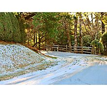Snow-Covered Road Photographic Print