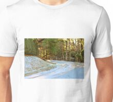 Snow-Covered Road Unisex T-Shirt
