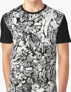 Flowers Design Graphic T-Shirt