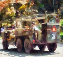 Army Truck in Parade by Susan Savad