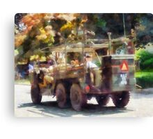 Army Truck in Parade Canvas Print