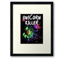 Unicorn Killer T Shirt Framed Print