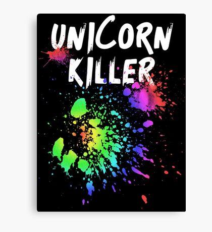 Unicorn Killer T Shirt Canvas Print