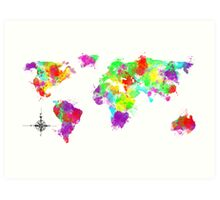 My World In Color Art Print
