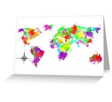 My World In Color Greeting Card