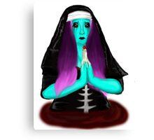 Bloody Nun Canvas Print