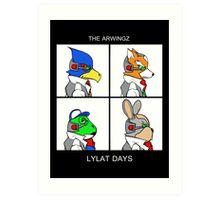 The Arwingz -Lylat Days- Art Print