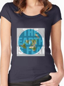 The earth is flat, Women's Fitted Scoop T-Shirt