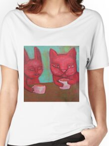Cat Cafe Women's Relaxed Fit T-Shirt