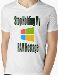 Hostage Mens V-Neck T-Shirt