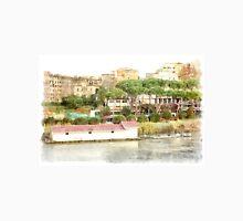 Rome: Tiber River boat and urban landscape Classic T-Shirt