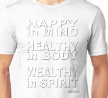Wealthy in Spirit -  White Unisex T-Shirt