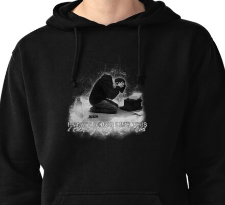 Alan Wake 'I can't going like this....' - black version Pullover Hoodie