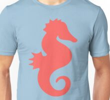 Cute Coral and Teal Sea Horse Unisex T-Shirt