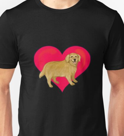 I Love Golden Retrievers Unisex T-Shirt