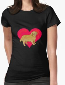 I Love Golden Retrievers Womens Fitted T-Shirt