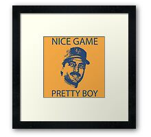 Nice Game Pretty Boy Keith Hernandez Framed Print
