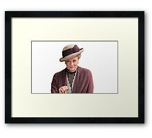 Lady Violet is my queen Framed Print