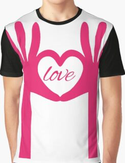 Hands Shaping a Heart Graphic T-Shirt