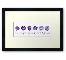 Choose Your Weapon | RPG Framed Print