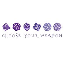 Choose Your Weapon | RPG Photographic Print