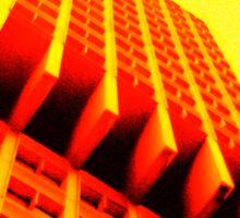 Yellow Crazy Building Sticker