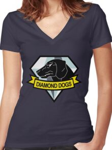 Metal Gear Solid - Diamond Dogs Emblem Women's Fitted V-Neck T-Shirt