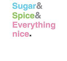 Sugar, Spice & Everything nice Photographic Print
