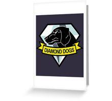 Metal Gear Solid - Diamond Dogs Emblem Greeting Card