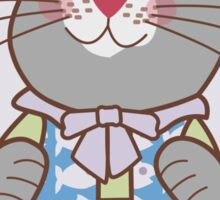 Don't Tempt Me I'm Being Good Angel Cat Sticker