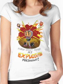Bomberman's Explosive Personality Women's Fitted Scoop T-Shirt