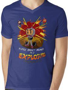 Bomberman's Explosive Personality Mens V-Neck T-Shirt