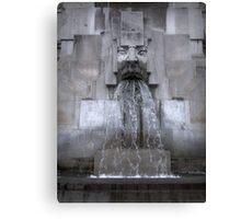 Milan Train Station Fountain Canvas Print