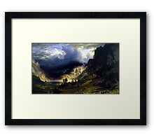 A Storm in the Rocky Mountains Bierstadt Framed Print