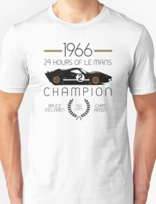 1966 24 Hours of Le Mans Champion #2 Ford GT40  T-Shirt