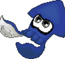 Pixel Squid (Blue) by aestheticmemes
