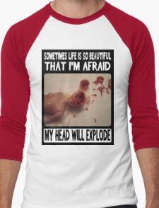 Beautiful Life: Head Explosion Men's Baseball ¾ T-Shirt