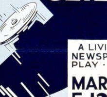 Vintage WPA Federal Theatre Project Flight Sticker