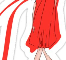 Girl in a Red Dress Sticker