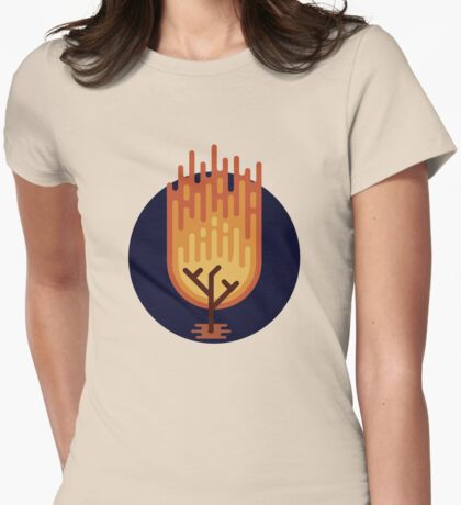 The Burning Bush Womens Fitted T-Shirt