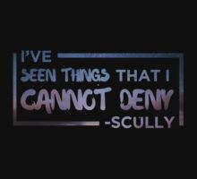 I've Seen Things That I Cannot Deny (Scully/X-Files) Baby Tee