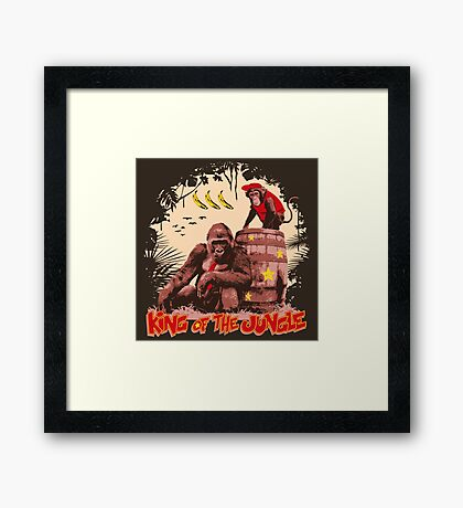 Donkey Kong - King of the Jungle Framed Print