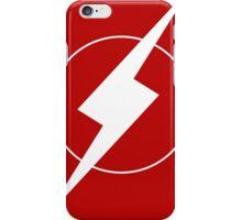 Simplistic Flash Symbol white iPhone Case/Skin