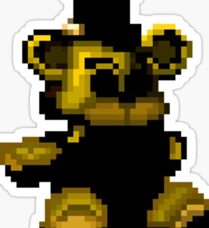 Golden Freddy plushie pixel sticker Sticker