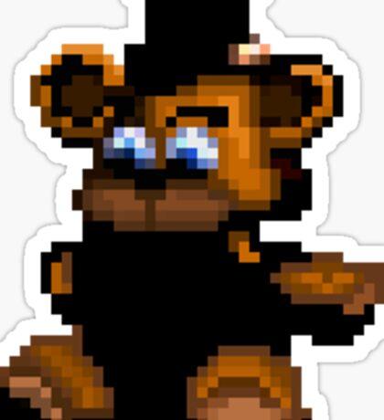 Freddy pixel plushie sticker Sticker