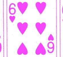 666 Cards - Pink Sticker