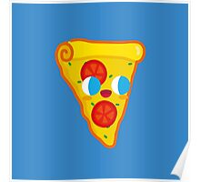 Happy Pizza Face Poster