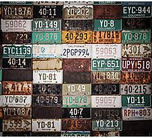 Licence Plates USA Photographic Print