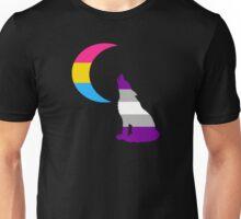 Panromantic Graysexual Wolf & Moon Unisex T-Shirt